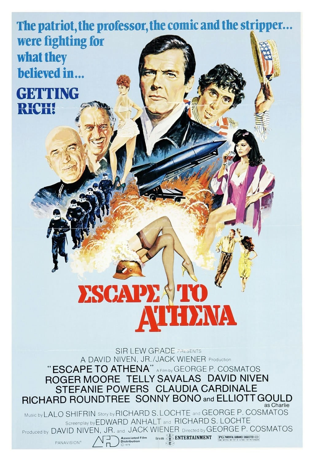 escape to athena - poster